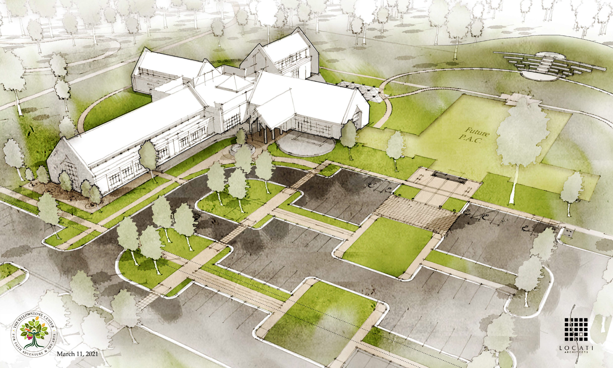 Architect's drawing of proposed YTI building